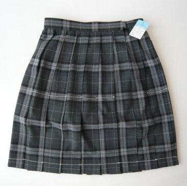 KURI-ORI 夏スクールスカート 54cm丈 グレー×紺・白クリオリ チェックプリーツスカート