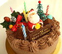 冷凍チョコクリームのクリスマスケーキ5号