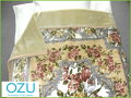 日本製(泉州産)豪華な花柄♪抗菌防臭加工合わせ毛布