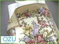 日本製(泉州産)豪華な花柄♪抗菌防臭加工軽量ニューマイヤー毛布