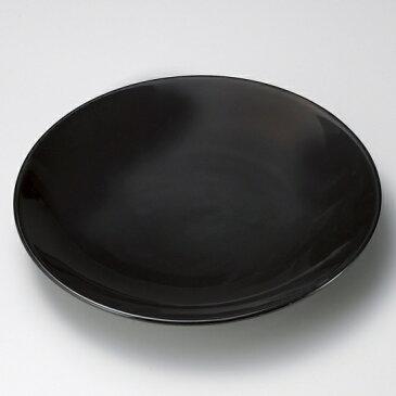 黒釉13号皿 有田焼 黒い器 和食器 丸大皿 業務用 約40.5cm 和食 和風 ふぐ刺し 宴会 盛り付け皿 揚げ物盛り合わせ てっさ てっちり 忘年会 刺身盛り合わせ