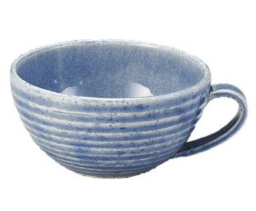 スープ ボウル マグ カップ 碗 ブルー 瑠璃 藍 青 釉 日本製 美濃焼 取っ手 手付き 土物 磁器 陶器 陶磁器 業務 家庭 ギフト プレゼント 用 おすすめ