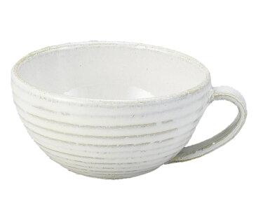 スープ ボウル マグ カップ 碗 シンプル ホワイト 白 釉 日本製 美濃焼 ブランド 取っ手 手付き 土物 磁器 陶器 陶磁器 業務 家庭 ギフト プレゼント 用 おすすめ