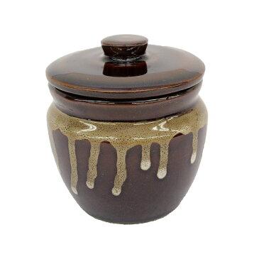 卓上 小物 食器 壺 おしゃれ つぼ型 容器 蓋 つき ( 大 )日本製 美濃焼 陶器 梅干し 味噌 漬物 薬味 珍味 たれ 調味料 入れ 保管 保存 仕出し 用