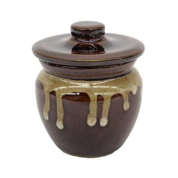 卓上 小物 食器 壺 おしゃれ つぼ型 容器 蓋 つき ( 小 )日本製 美濃焼 陶器 梅干し 味噌 漬物 薬味 珍味 たれ 調味料 入れ 保管 保存 仕出し 用