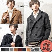 ピーコート ジャケット メルトン ブラック キャメル ファッション ストリート マイノリティ