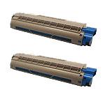 商品名:MIKASAリサイクルトナー参考型名:TNR-C4GC2シアンリサイクルトナー2本セット(C711dn C711dn2)(沖データ)
