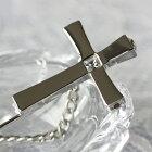 十字架の周りにもダイヤを飾って豪華なピンブローチ♪【AXP5691】