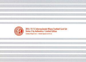 【海外サッカーカード】送料無料 フロンティア 2014-15 インテル・ミラノ フットボールカードセ...