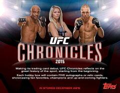 【12月上旬以降発売予定:UFC公式総合格闘技カード】◆予約◆送料無料 2015 TOPPS UFC CHRONICLES