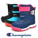 ジュニア 防水 スノーブーツ 雪 冬靴 Champion チ...