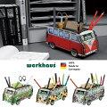 ドイツ【WERKHAUS(ヴェルクハウス)】組み立て式ペンスタンドフォルクスワーゲンバスヒッピートライアングルピクセル