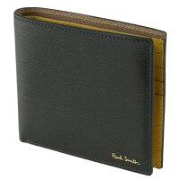 ポールスミス 財布 メンズ 二つ折り PAUL SMITH M1A-4832-ASTRGR 37 グリーン系×イエロー系 バイカラー 財布・小物