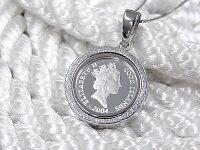純銀1/20オンスイルカラッセンコインペンダント2004年限定品【ネックレス付き】【送料無料】【英国造幣局製造】