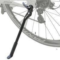 自転車軽量キックスタンドサイドスタンド24インチ〜700Cに適合マウンテンバイクロードバイククロスバイククイックリリース仕様全般対応可能(色BLACK)