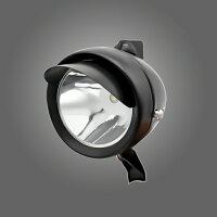 砲弾型フロントヘッドライト省電力高輝度LEDを採用二つの取付金具付き電池式