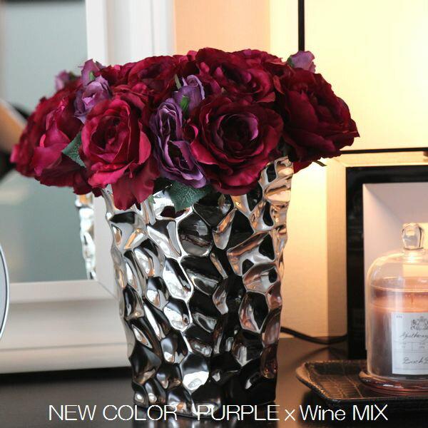 シルバー カラー フラワーベース サイズL 売れ筋 花器 花瓶 北欧雑貨 北欧インテリア インテリア雑貨 おしゃれ 可愛い かわいい インテリア モダン モダンシック プレゼント 贈り物 質感 モノトーン ブラック MIRAGE-STYLE vase