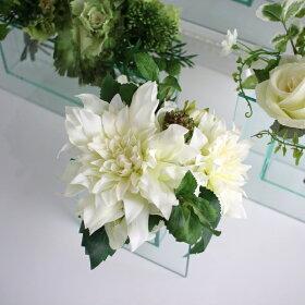 ガラスフレームモダンデザインフラワーベース花瓶【Aタイプ】【MIRAGE-STYLE】