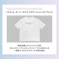 MIRAGEM〔ミラジェム〕オーバーサイズグラーデーションロゴTシャツ