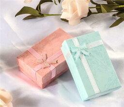 【メール便対応商品】ジュエリーボックス マカロン色ボックス ライトブルー ピンクジュエリーボックス プレゼントボックス 小さいボックス【ボックスだけの購入はできません】