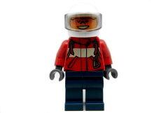 LEGO Minifigs /レゴ シティ 消防士(オレンジサングラス/赤ジャケット/紺ズボン)パイロット - ...