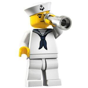 レゴ 8804 ミニフィギュア シリーズ4 水兵 (Sailor) - ミニフィグ (1z055)