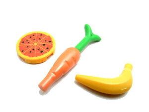 レゴ フード 食品3個セット(ピザ・ニンジン・バナナ) - パーツ (h01-2set)