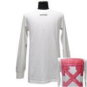 オフホワイトOFFWHITEロングTシャツロンTメンズ(26004)