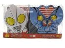 ★バレンタイン♪チョコ菓子入り★ウルトラマンキャラ缶セット「マン&バル」Dカット缶ケース