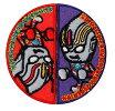 【SALE】アイロン接着ワッペン♪◆ウルトラマンオーブ◆■まる○型:赤&紫