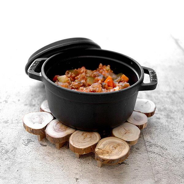 スカンジナビスクヘムスロイド切り株「ホットプレート」木製 鍋敷き北欧 おしゃれなキッチン小物