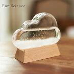 Fun Science「ストームグラス クラウド」気象計 気象予報計天気管 天候予測器結晶 雲形 オブジェ