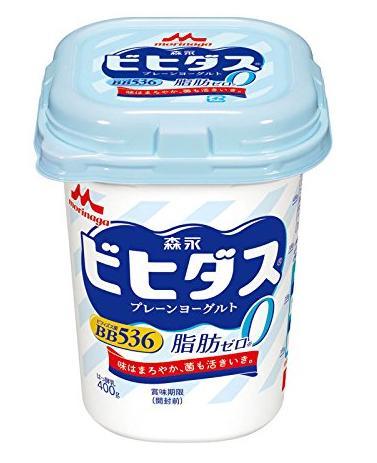 森永乳業『ビヒダス プレーンヨーグルト脂肪ゼロ』