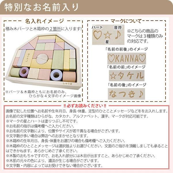 日本製 名前入り つみきのいえM つみきパーツ×32 木のおもちゃ