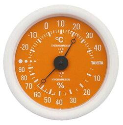タニタ 温湿度計 オレンジ TT-515
