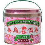 【医薬部外品】金鳥の渦巻 ローズの香り 30巻[缶]