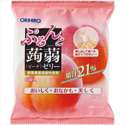 ぷるんと蒟蒻ゼリーパウチ ピーチ 20g×6個