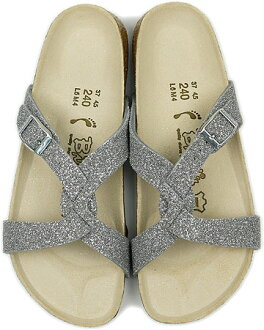 Points Silver of BIRKENSTOCK Sandals by Birkenstock Birki's SYLT Bilkey, silt TX Glitter ( 584463 SS10 )