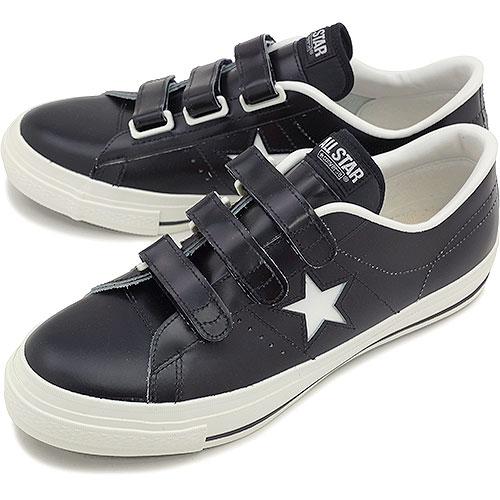 コンバース ワンスターJ ベルクロ CONVERSE ONE STAR J V-3 ブラック/ホワイト (32346791...