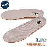【即納】MERRELL メレル メンズ インソール 中敷き ORTHOLITE FOOTBET オーソライト インソール GRAY 靴 [J1JOFM6MG]【メール便可】