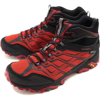 Merrell 男式摩押 FST 中期戈爾特斯 MERRELL 徒步鞋男裝摩押 FST 中期戈爾特斯勃艮第黑 (J35743 FW16)