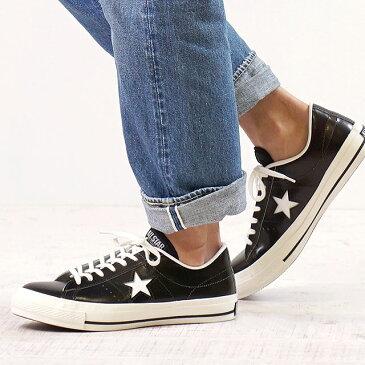 【即納】【返品サイズ交換可】CONVERSE コンバース ONE STAR J ワンスター J ブラック/ホワイト靴 (32346511)【e】【コンビニ受取対応商品】