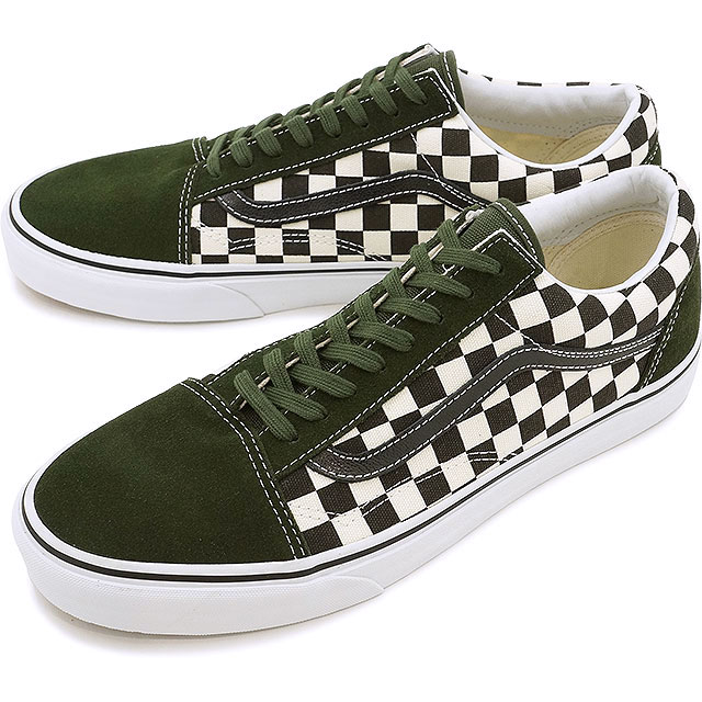 old school vans black and white checkerboard