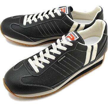 【返品送料無料】【ノベルティプレゼント】パトリック PATRICK スニーカー MARATHON-L マラソン・レザー メンズ・レディース 日本製 靴 BLACK ブラック 黒 [98701]【定番モデル】