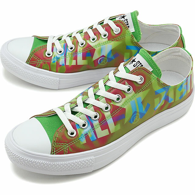 メンズ靴, スニーカー 50OFFSALE CONVERSE OX ALL STAR LIGHT LENTICULAR BIGLOGO OX 31302530 FW20 GREENPINK ets