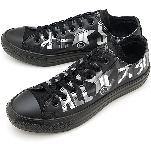 メンズ靴, スニーカー 50OFFSALE CONVERSE OX ALL STAR LIGHT LENTICULAR BIGLOGO OX 31302531 FW20 BLACK ets