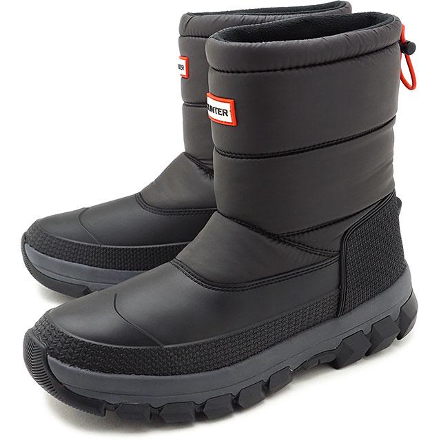 メンズ靴, スノーシューズ 12 HUNTER M ORIGINAL INSULATED SNOW BOOT SHORT BLACK MFS9134WWU FW20