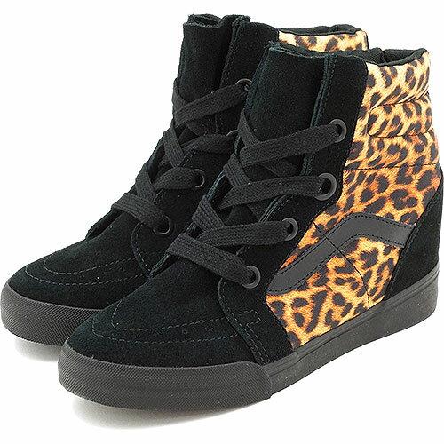 vans sk8 hi wedge leopard black