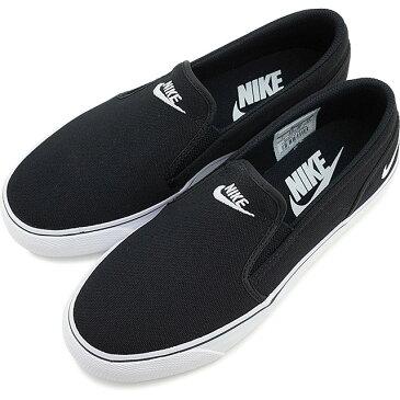 NIKE ナイキ レディース スニーカー 靴 WMNS TOKI SLIP CANVAS ウィメンズ トキ スリップ キャンバス ブラック/ホワイト [724770-010 SU15][e]