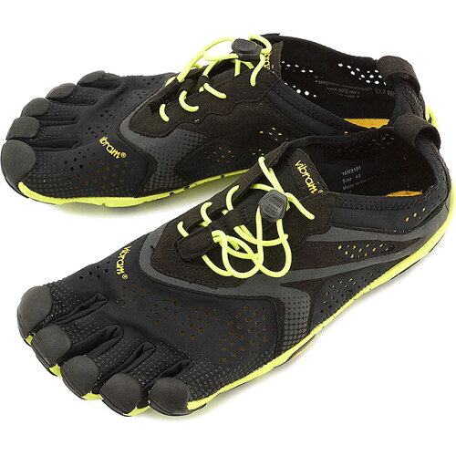 Vibram FiveFingers ビブラムファイブフィンガーズ メンズ V-Run Black/Yellow ビブラム ファイブ...